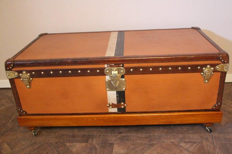 Orange Louis Vuitton Steamer Trunk, Orange Louis Vuitton Trunk, Vuitton Trunk For Sale 1