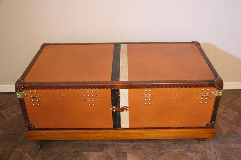 Orange Louis Vuitton Steamer Trunk, Orange Louis Vuitton Trunk, Vuitton Trunk For Sale 3