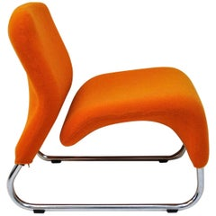 Orange Lounge Chair Ecco by Møre Design Team 1970, Norway