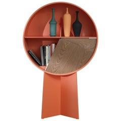 Orange Luna Walnut Cabinet by Patricia Urquiola