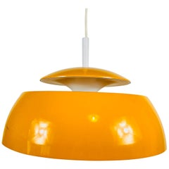 Orange Metal Pendant Lamp by Temde, 1970s