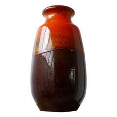 Orange Mid-Century Ceramic German Vase