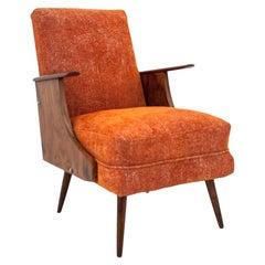 Orange Midcentury Armchair, 1950s