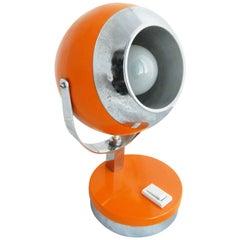 Orange Midcentury Table Light or Side Lamp, circa 1960