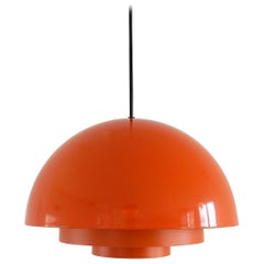 Orange Milieu Pendant Lamp by Jo Hammerborg for Fog and Mørup, Denmark, 1970s