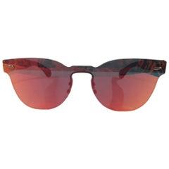 Orange mirrored sunglasses