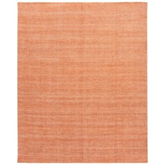 Orange Modern Bamboo or Silk Boho Handmade Rug