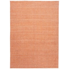 Apadana Orange Modern Bamboo or Silk Boho Handmade Rug