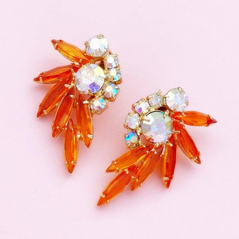 - Vintage item  - Each earring measures 1.75