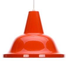 Orange-Anhänger der 1960er Jahre skandinavischen Industriebeleuchtung Design