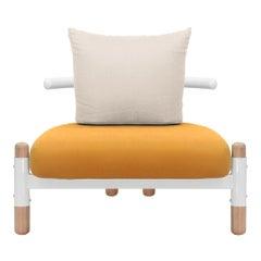 Orange PK15 Single Seat Sofa, Steel Structure & Wood Legs by Paulo Kobylka