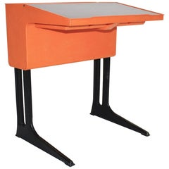 Orange Plastic Desk for Children by Luigi Colani for Flötotto Germany circa 1970