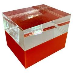 Orange Plexi and Acrylic Box