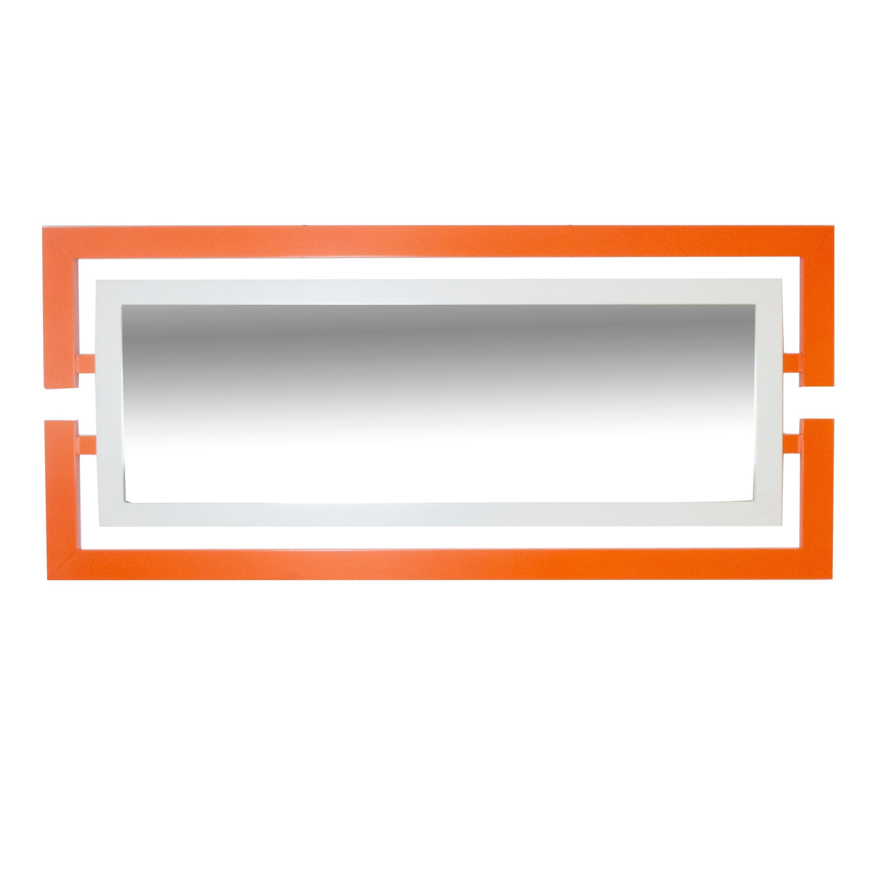 Orange Rectangle Wall Mirror, 'Customizable'