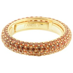 Orange Sapphire Eternity Ring in 18 Karat Gold