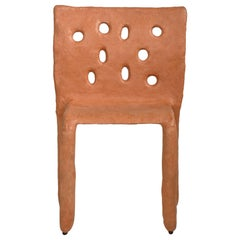 Orange Sculpted Contemporary Chair by Victoria Yakusha