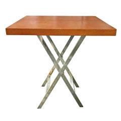 Orange Shagreen Side Table