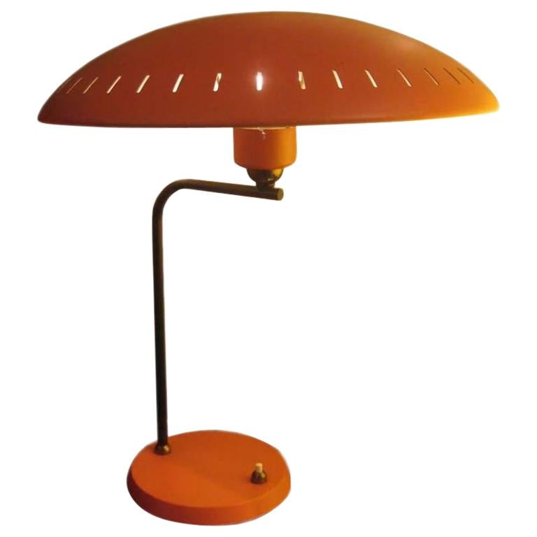 Orange Table Lamp By Louis Kalf For Philips