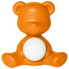 Orange Teddy Bear Lamp LED Rechargeable, Designed by Stefano Giovannoni