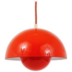 Orange Verner Panton Flowerpot Pendant Lamp, Louis Poulsen, Denmark, 1969
