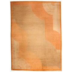 Orange Vintage French Deco Rug