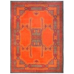 Orange Vintage Viennese Rug