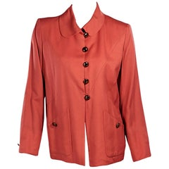 Orange Vintage Yves Saint Laurent Blazer