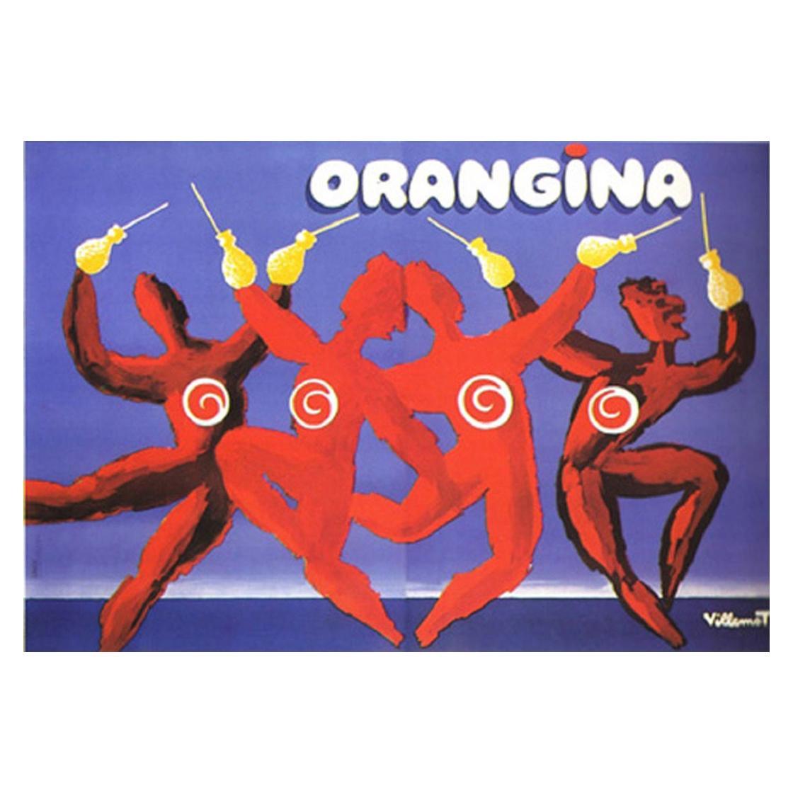 Orangina Dance, Villemot Original Vintage Poster