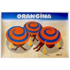 Orangina Umbrellas – Villemot Poster