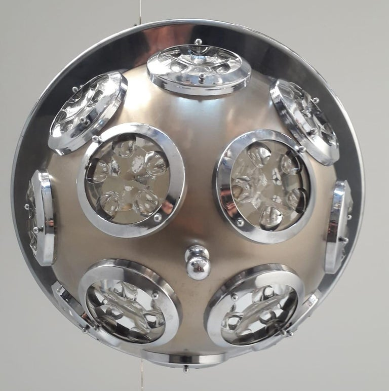 Beveled Orb Pendant by Torlasco For Sale