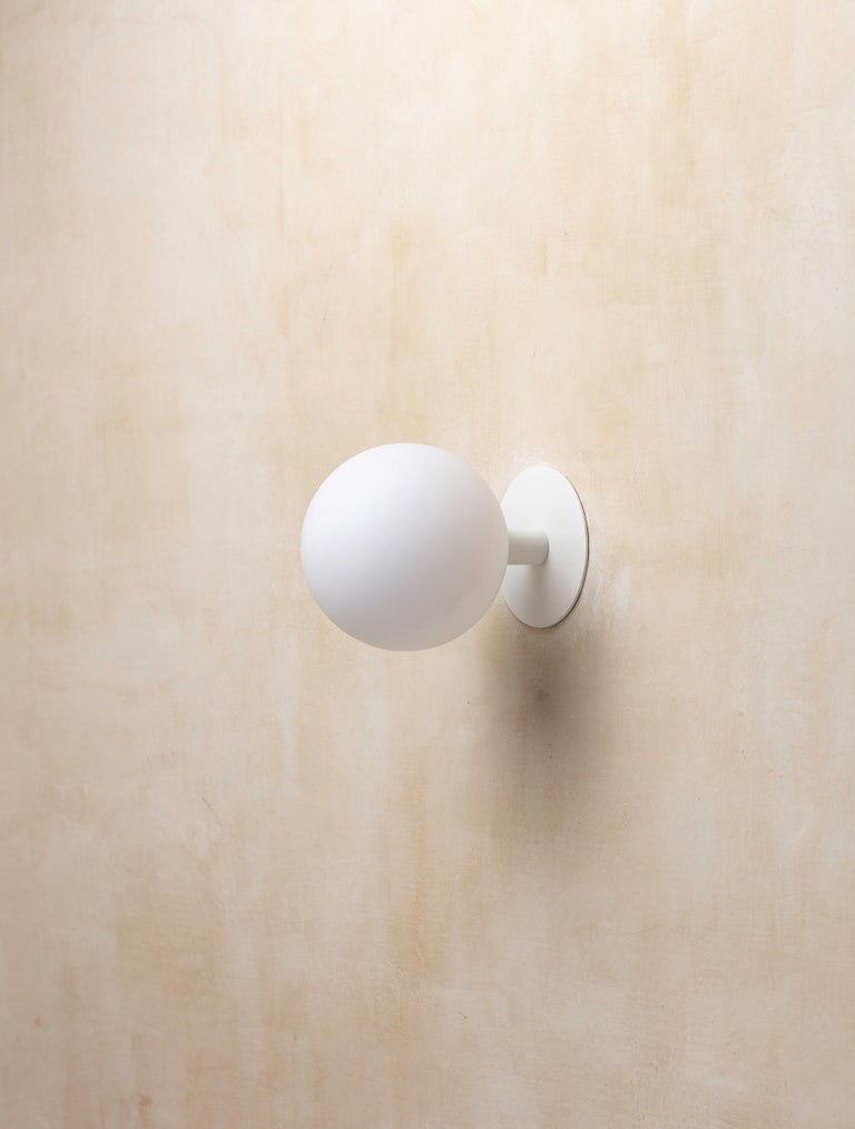 Contemporary Orb Sconce For Sale