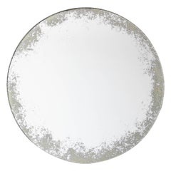 Orbis Round Mirror Silver with Ivory Antiqued Finish dia. 40cm / 15.8""