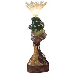 'Orbis' Sculptural Floor Lamp, Scagliola