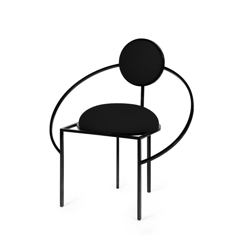 This is the first time that Bohinc explores a design favourite; the chair.  In the collection, Lara Bohinc develops her stellar themes, finding inspiration in planetary and lunar orbits, whose gravitationally curved trajectories drive the lines and