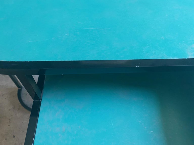 Orbit Coffee Table, Steel Frame and Verdigris Copper Top, by Lara Bohinc For Sale 2
