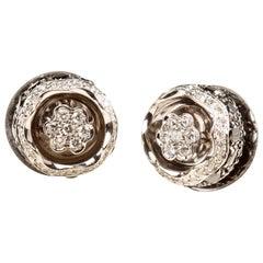 Orbit Diamond Earrings in 18 Karat Gold