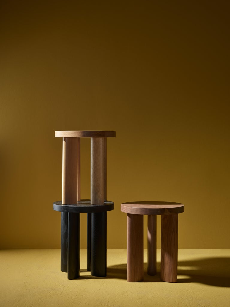 Orbit is a contemporary interpretation of Primitive elegance. Tables are made in generous scale and legs are fastened with integrated brass hardware, which provides visual punctuation. The unique elliptical leg motif is carried throughout the