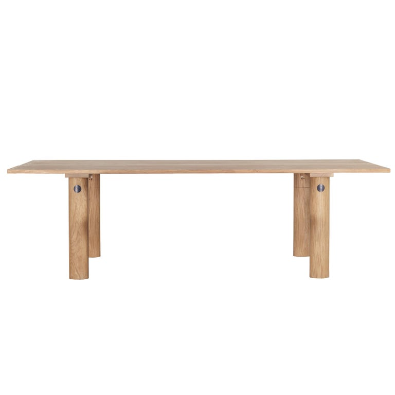 Orbit Rectangle Table with Oak Top and Oak Legs by Jamie Gray For Sale