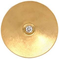 Georg Spreng - Orbit Double Ring Cone 18 Karat Gold with Diamond G/si 0.17 Carat