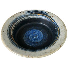 Orbit Stoneware Dish by Inge Persson for Rorstrand Atelje, Sweden, 1960s