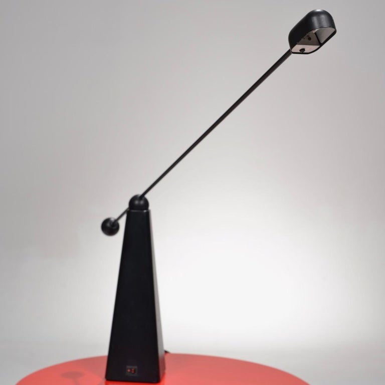 Post-Modern Orbit Table Lamp by Ron Rezek for Bieffeplast, circa 1980 For Sale