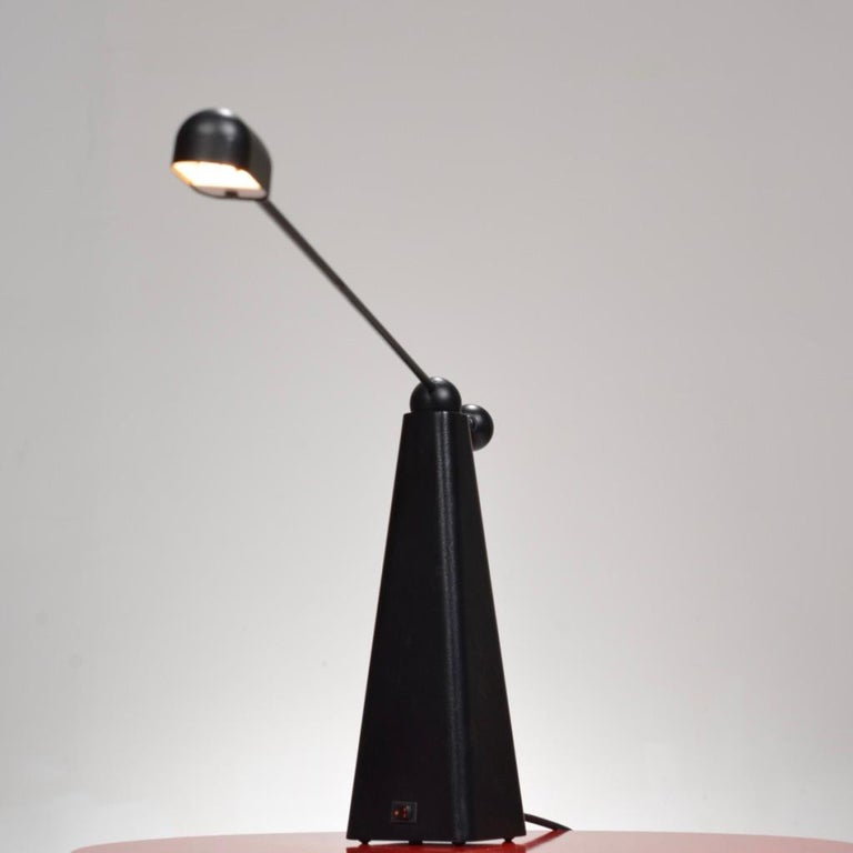 Orbit Table Lamp by Ron Rezek for Bieffeplast, circa 1980 In Good Condition For Sale In Los Angeles, CA