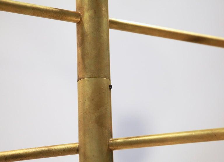 Orbitale Brass Chandelier 3 Rotating Balanced Arms, Stilnovo Style, Brass Shades For Sale 11