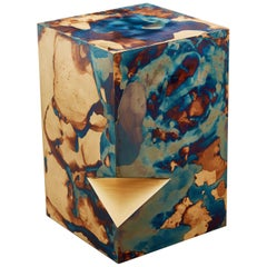 Orchestra No.1 Copper Square Multi-Color Texture Stool Side Table Customizable