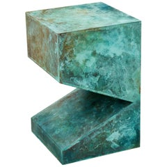 Orchestra No.2 Copper Square Multi-Color Texture Stool Side Table Customizable