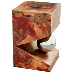 Orchestra No.3 Copper Square Multi-Color Texture Stool Side Table Customizable