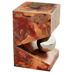 Orchestra No.3 Copper Square Multi-Color Texture Stool Side Table Customizable