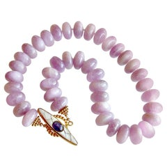Orchid Kunzite Choker Necklace, Orianne IV Necklace