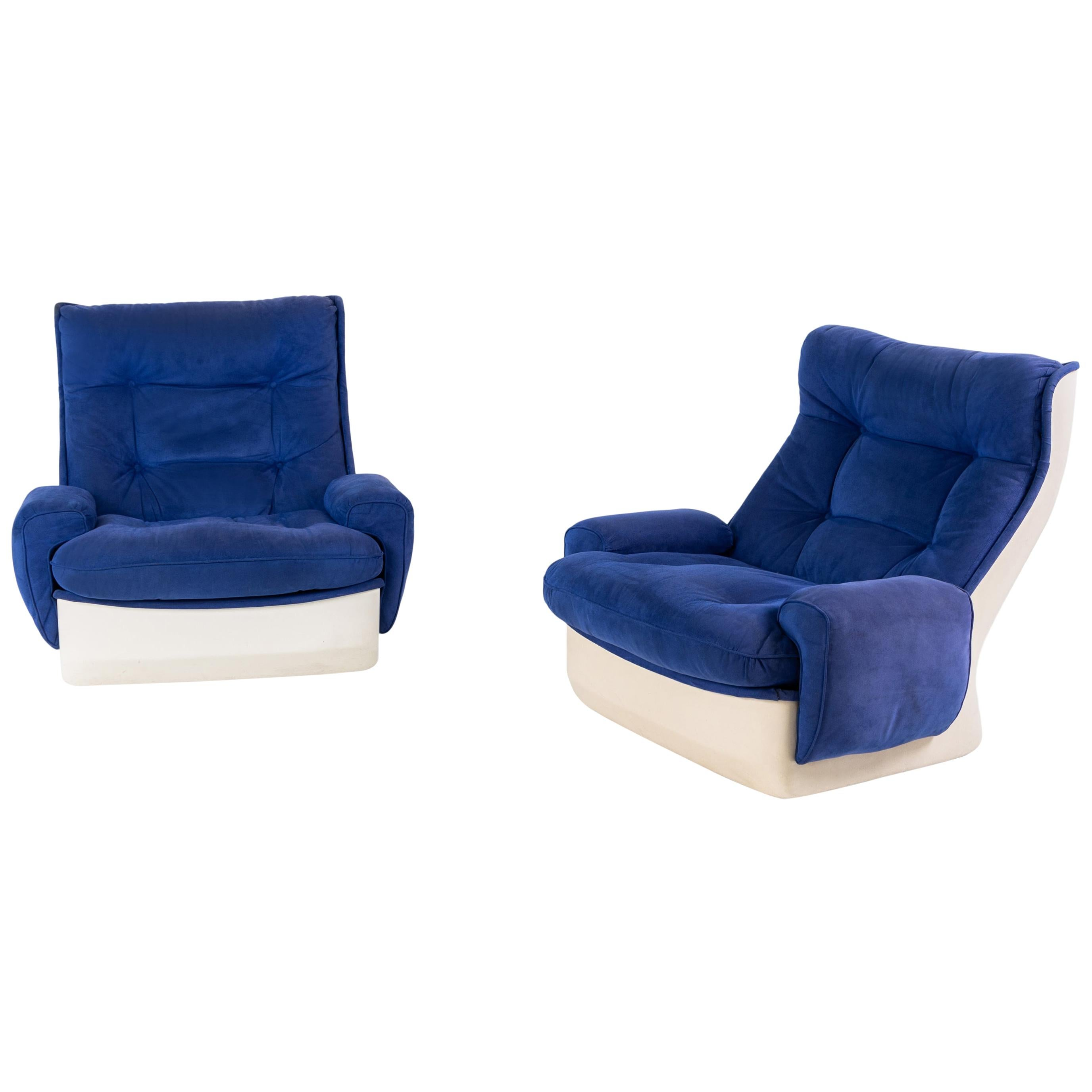 Orchidée Lounge Chairs by Michel Cadestin, Mid-20th Century