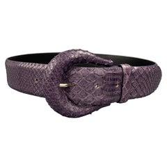 ORCIANI Purple Snake Skin Leather Belt